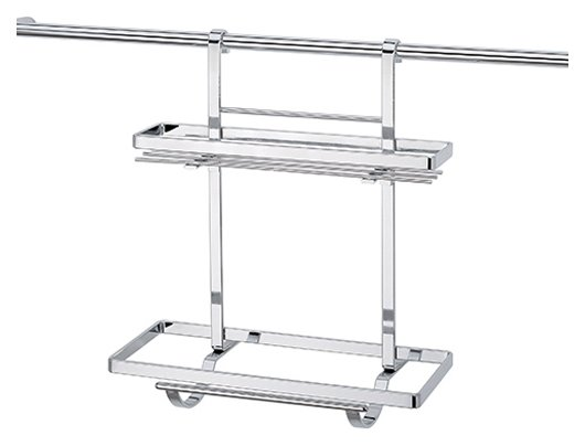 ROLL HOLDER WITH DOUBLE SHELF